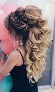 prom hair ideas sparkle
