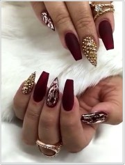 epic burgundy nails