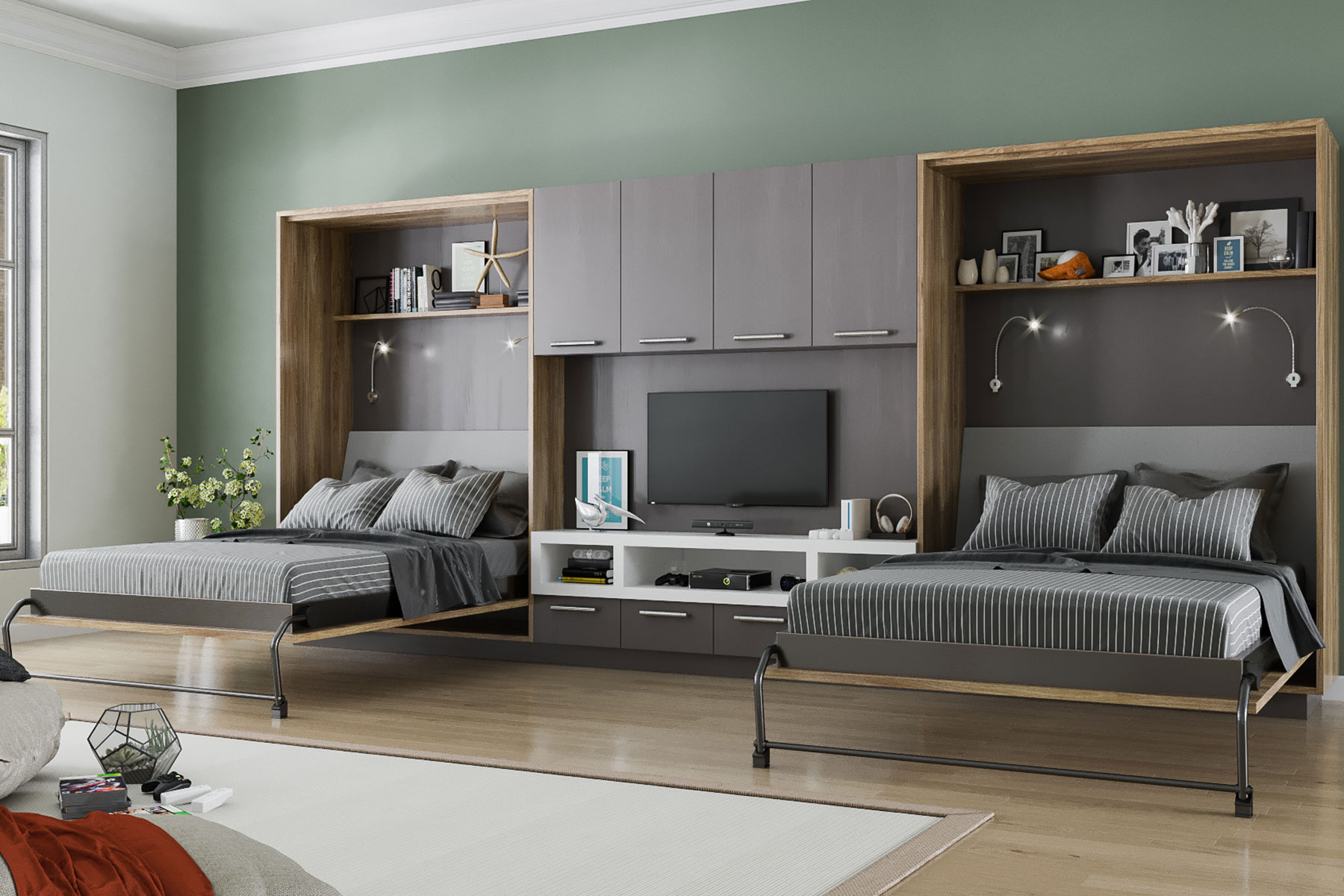 murphy bed in small living room paint colors for rooms with brown furniture wall beds and cabinet design closet factory teen modern
