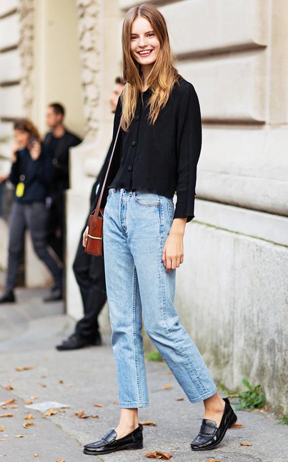 Resultado de imagen para mom jeans street style