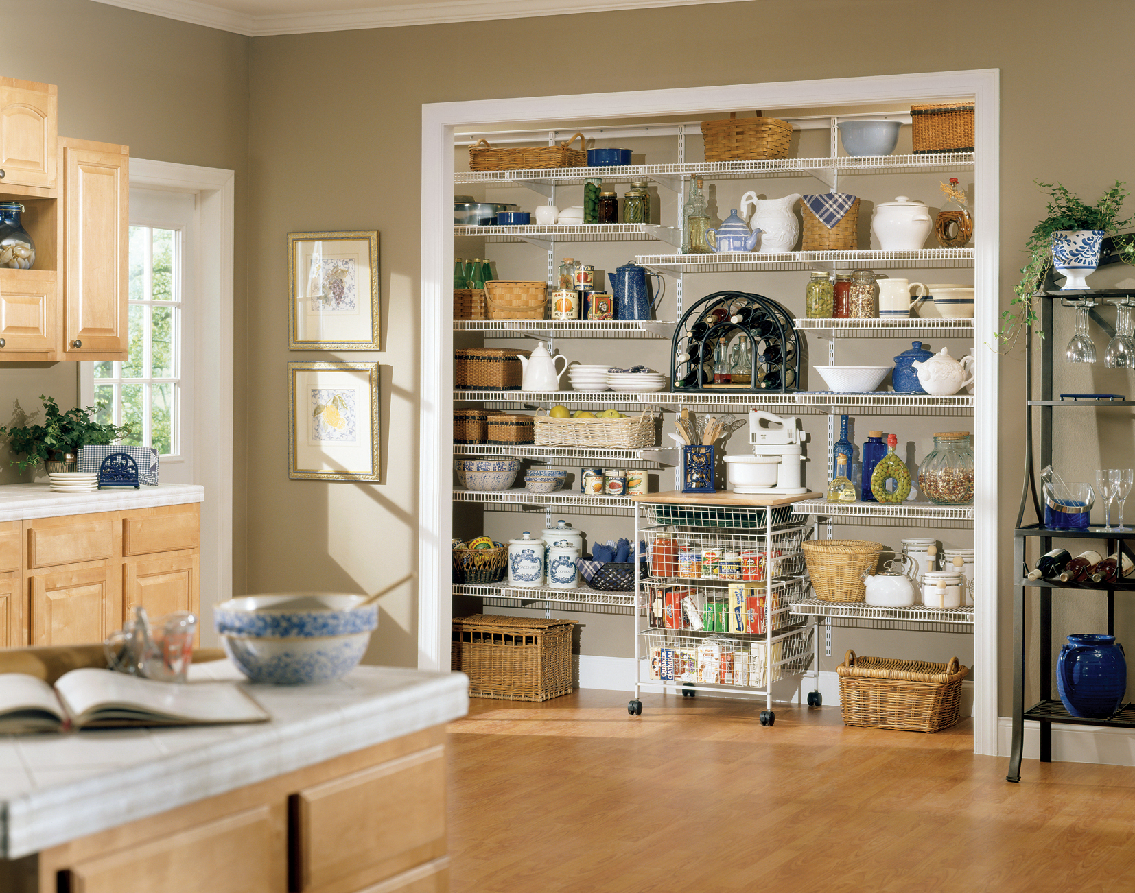 kitchen pantry shelving systems moen pull down faucet press and public relations