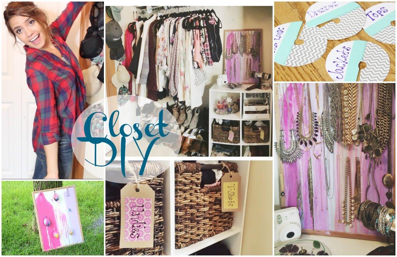 DIY Closet Organization TumblrPinterest Inspired