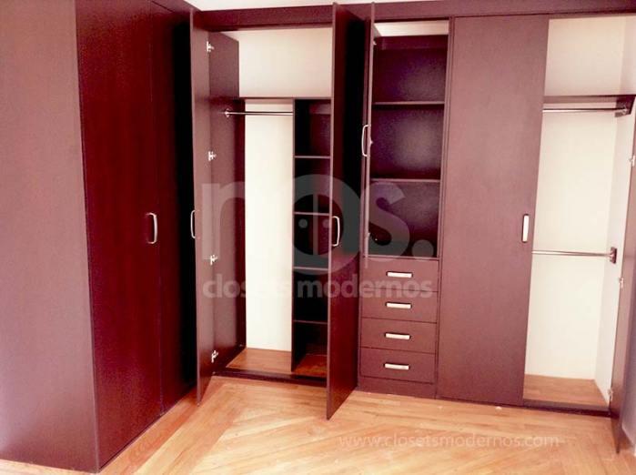 Closet en escuadra 1 nos closets modernos for Catalogo de closets