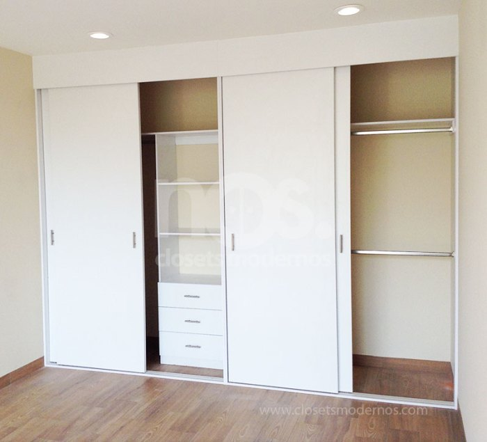 catalogo de closets modernos economicos de madera corredizos