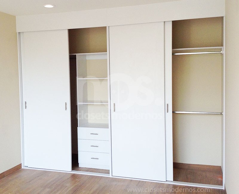 catalogo de closets modernos de madera corredizos elige