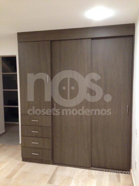 diseños de closets modernos economicos corredizos