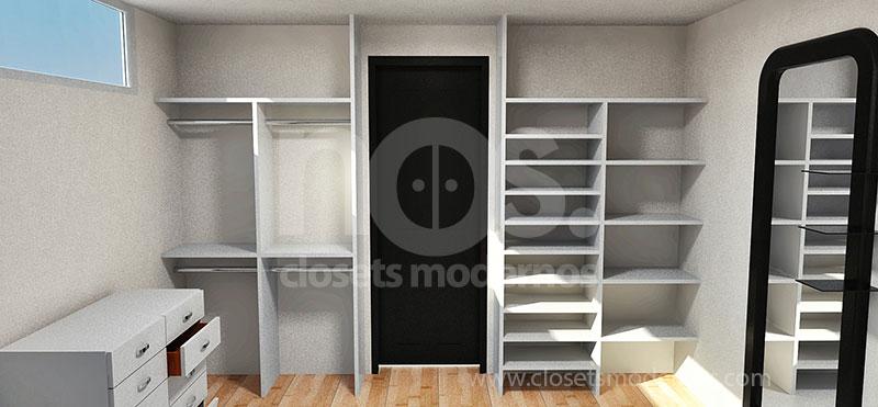 diseño de closets y vestidores modernos de madera df