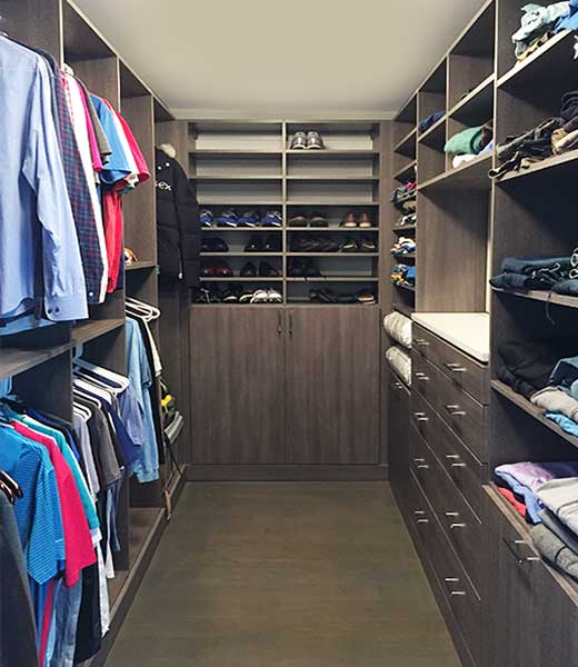 Shared Closet Organization With Hidden Lock and Safe