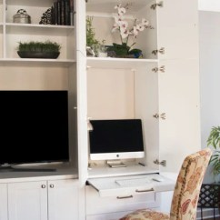 Media Center Living Room Ideas Natural Multifunctional Wall Unit With Desk