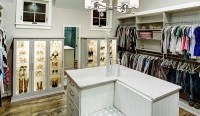 Grand Closet with Island and Lighted Shoe Storage