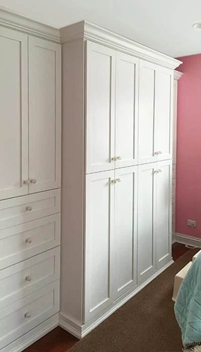 Wardrobe Closet with Built In Bedroom Cabinets Solves