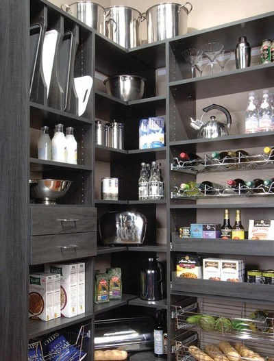 kitchen corner cabinet farm sink for storage with pantry drawers and pullout shelves