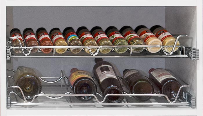 kitchen spice racks hanging lights for reach in pantry shelving with pull out organizers