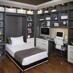 How To Decorate Living Room Wall Shelves Gray With Brown Couch 2 Home Office Hidden Bed