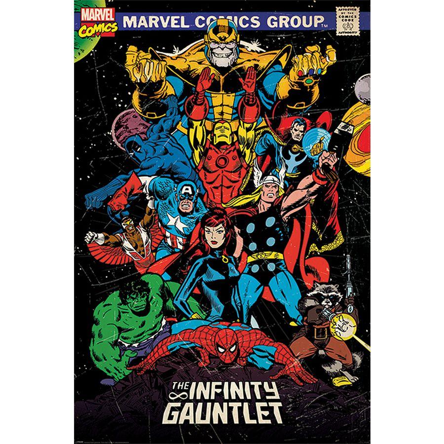 marvel comics retro poster