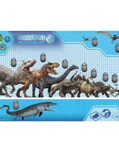 Jurassic world poster dinosaurier size chart also rh foto basa