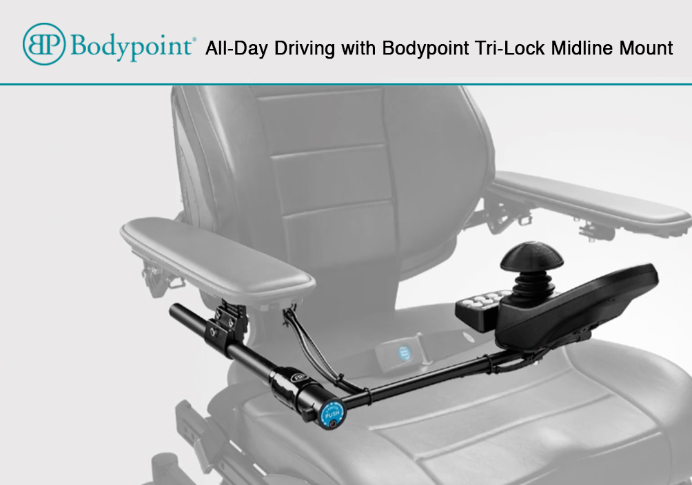 office chair joystick mount ikea patio covers all day driving with bodypoint tri lock midline closing the gap