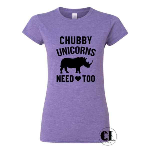 Download T-Shirt Chubby Unicorns Need Love Too ~ Clotee.com Tumblr ...