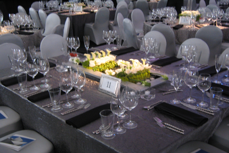 large banquet chair covers custom director s los angeles charcoal grey crushed shimmer table linen rental tablecloth