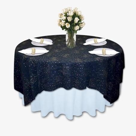 Denim  Diamonds Table LInen Tablecloth