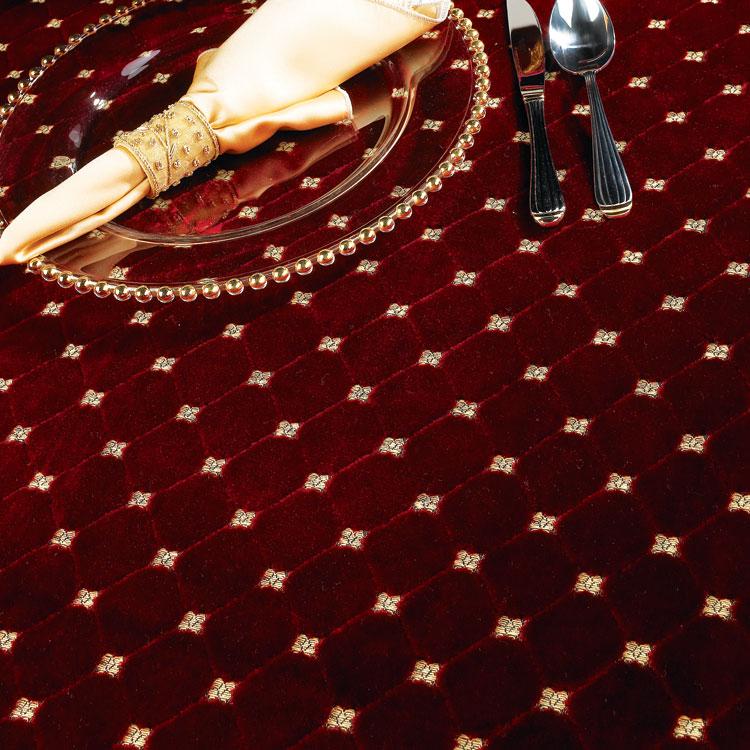 Burgundy  Gold Velvet Brocade Table Linen