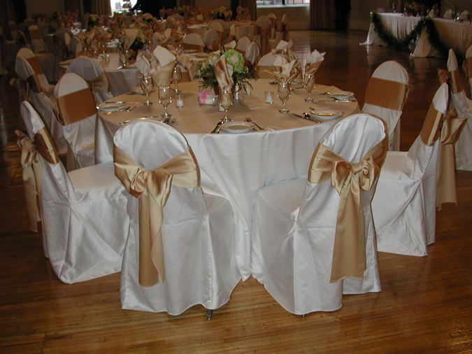 Ivory Lamour Chair Cover table linen rentals tablecloth