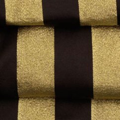 Polyester Banquet Chair Covers Fabric Side Chairs Black & Gold Satin Stripe Table Linen Rental Tablecloth