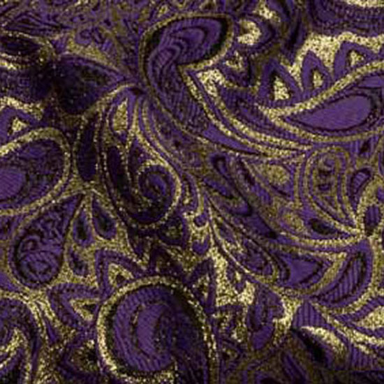 banquet chair covers for rent small living room wedding and special event purple & gold paisley brocade - cloth connection