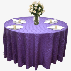 Poly Banquet Chair Covers Barcelona Original Wedding And Special Event Purple Pintuck For Rent - Cloth Connection