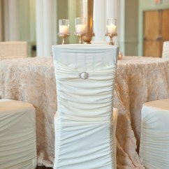 Events By Designer Chair Covers Swing With Stand Pepperfry White Stretch Ribbed Chivari Cover