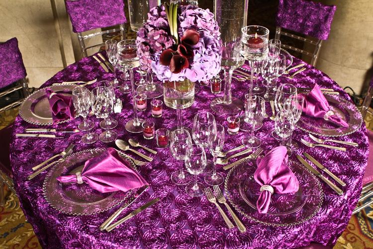 wedding and special event Plum Ribbon Swirl Taffeta for