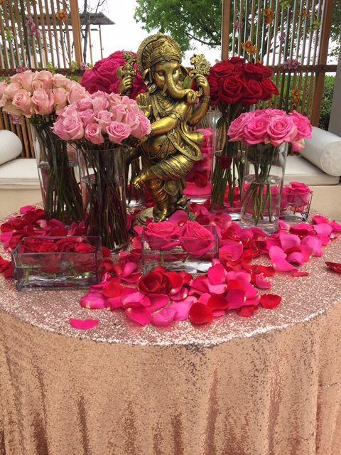 Blush Brilliance Sequins Table Linen Tablecloth