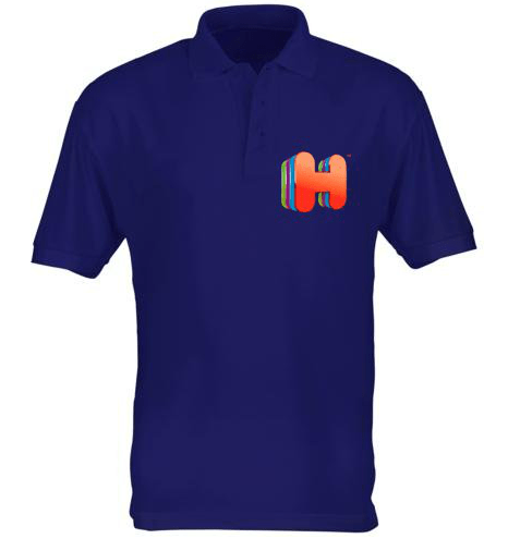 Customised printed hotels.com t-shirt logo