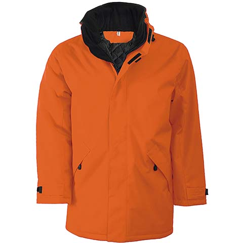Kariban Parka Padded Jacket Orange/Black