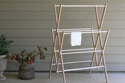 amish wooden clothes drying racks