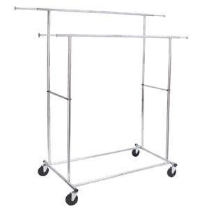 commercial folding double garment rack