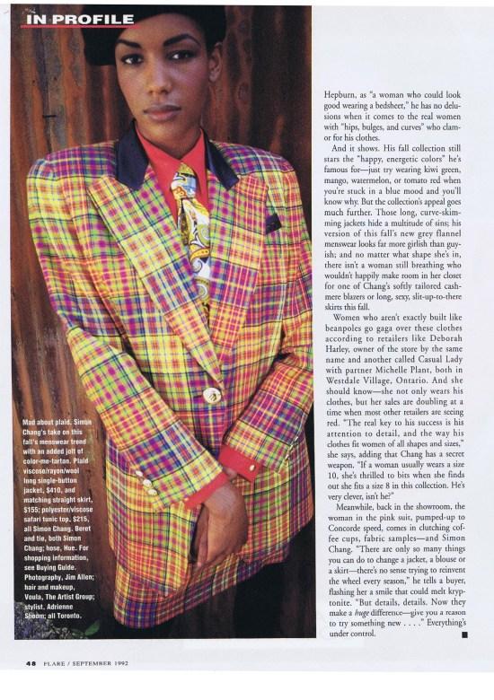 SIMON CHANG FLARE SEPTEMBER 1992