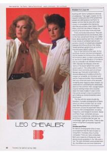 LEO CHEVALIER FASHION SPRING 1982