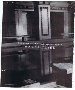 WAYNE CLARK BAZAAR MARCH 1984