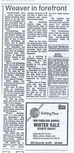 ZONDA NELLIS GLOBE AND MAIL 03 01 1984