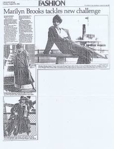 MARILYN BROOKS TORONTO STAR 1984