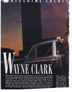 WAYNE CLARK CHATELAINE DEC 1985