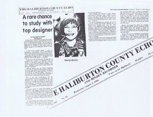 MARILYN BROOKS HALIBURTON COUNTRY ECHO AUG 1984