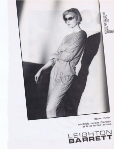 LEIGHTON BARRETT FASHION 1987