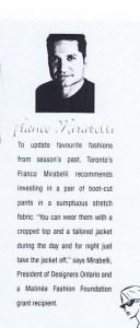 FRANCO MIRABELLI MATINEE SPRING 1997