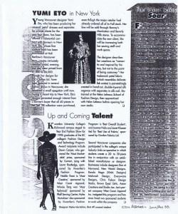 YUMI ETO CNDN APPAREL JULY 1998
