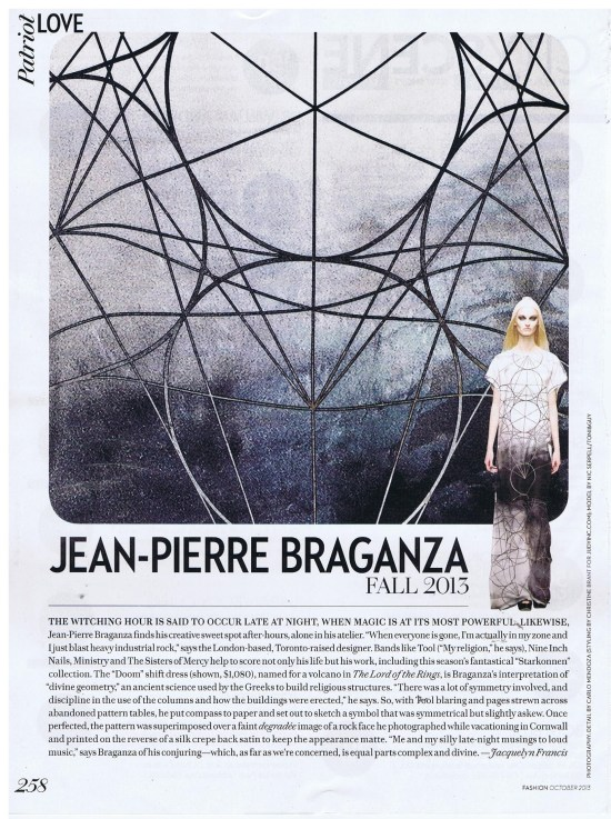 JEAN PIERRE BRAGANZA FASHION OCTOBER 2013