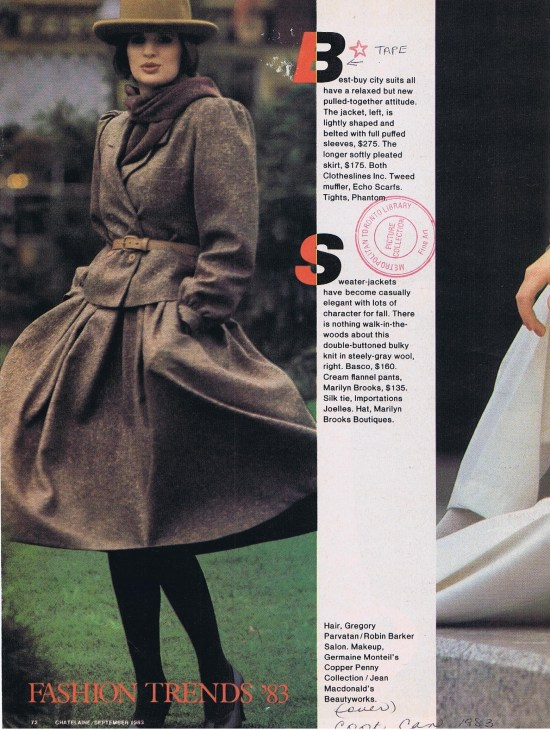 CLOTHESLINES  CHATELAINE FALL 1983
