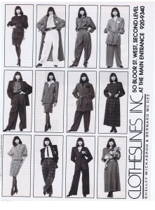 CLOTHESLINES FASHION SEPT 1989
