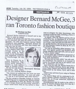 CLOTHESLINES TORONTO STAR  16.07.1991
